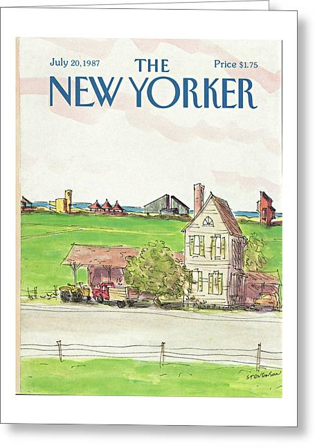 New Yorker July 20th, 1987 Greeting Card