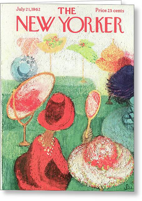 New Yorker July 21st, 1962 Greeting Card by Su Zeigler