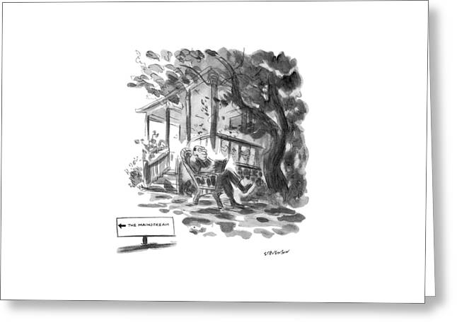 New Yorker July 21st, 1975 Greeting Card by James Stevenson
