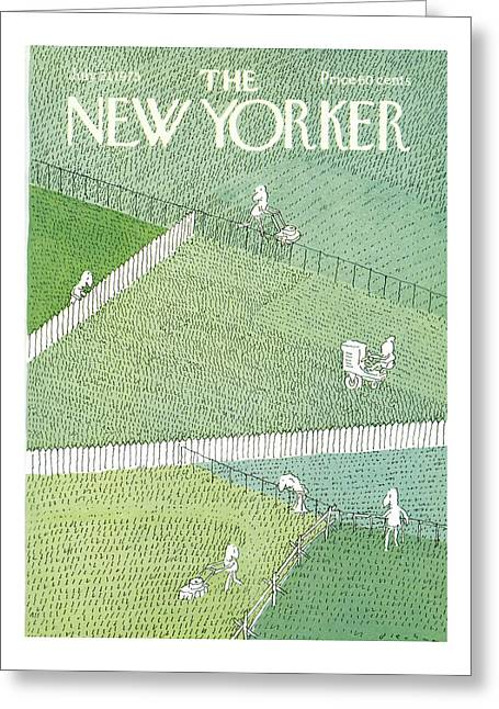 New Yorker July 21st, 1975 Greeting Card