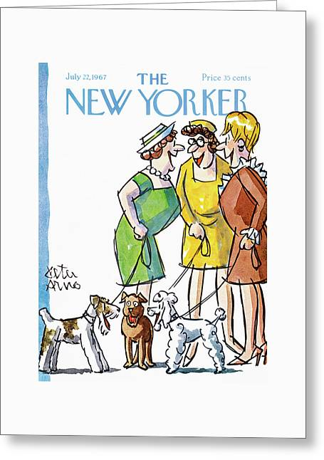 New Yorker July 22nd, 1967 Greeting Card by Peter Arno