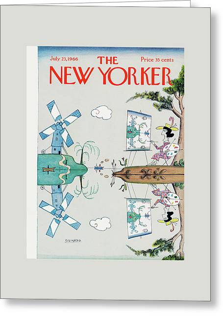 New Yorker July 23rd, 1966 Greeting Card by Saul Steinberg