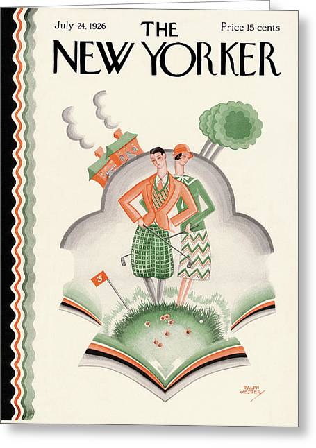 New Yorker July 24th, 1926 Greeting Card by Ralph Jester