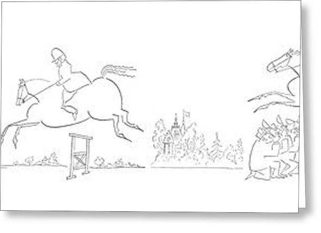 New Yorker July 24th, 1954 Greeting Card by Saul Steinberg