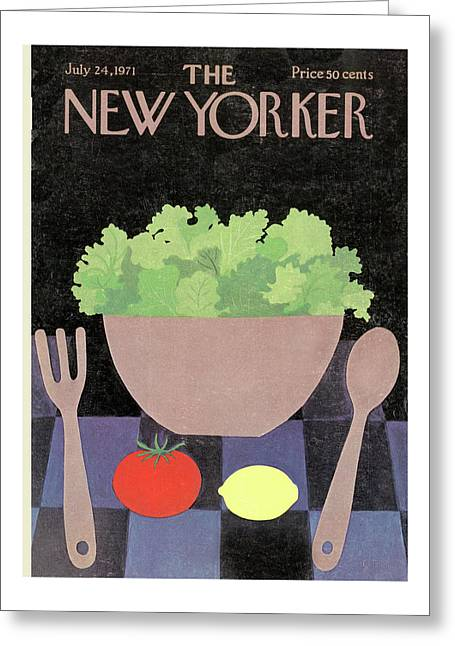 New Yorker July 24th, 1971 Greeting Card