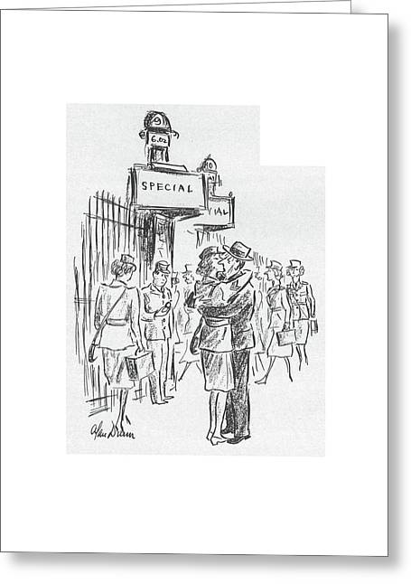 New Yorker July 25th, 1942 Greeting Card