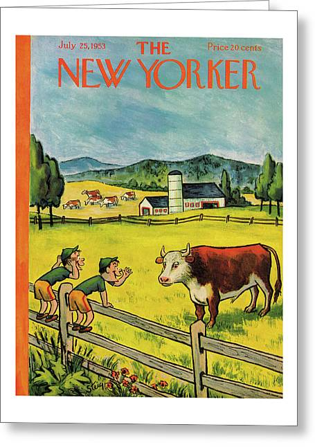 New Yorker July 25th, 1953 Greeting Card