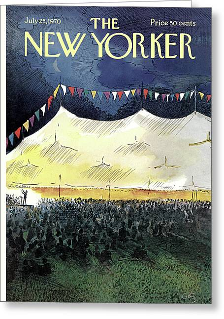 New Yorker July 25th, 1970 Greeting Card