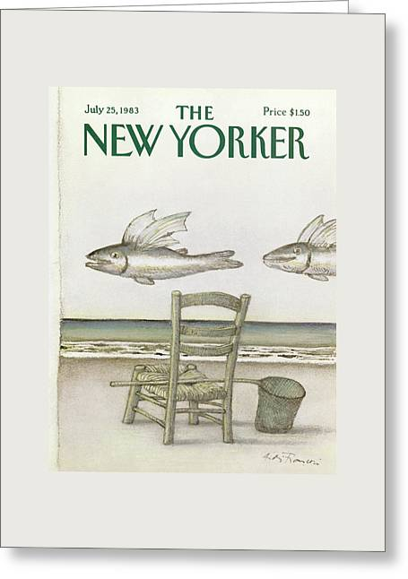 New Yorker July 25th, 1983 Greeting Card by Andre Francois