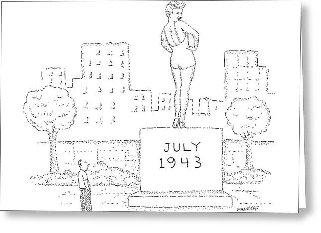 New Yorker July 25th, 1988 Greeting Card by Robert Mankoff