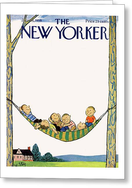 New Yorker July 26th, 1958 Greeting Card