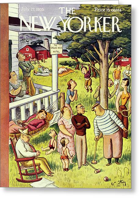 New Yorker July 27 1935 Greeting Card