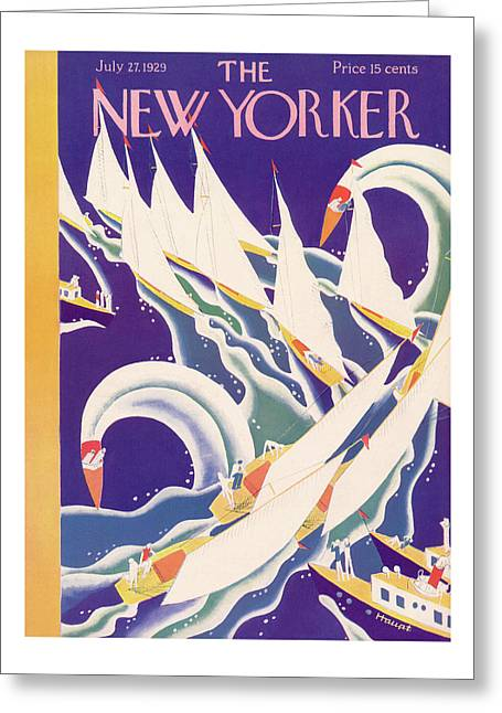 New Yorker July 27th, 1929 Greeting Card