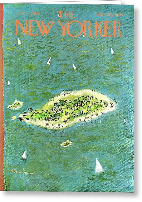 New Yorker July 27th, 1968 Greeting Card by Abe Birnbaum