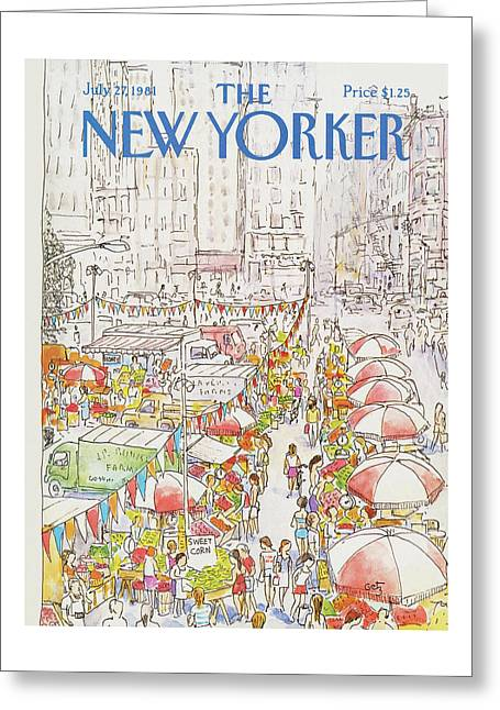 New Yorker July 27th, 1981 Greeting Card