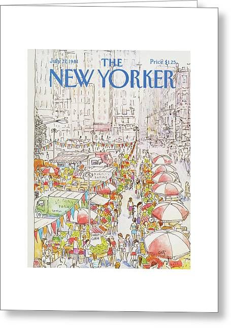 New Yorker July 27th, 1981 Greeting Card by Arthur Getz