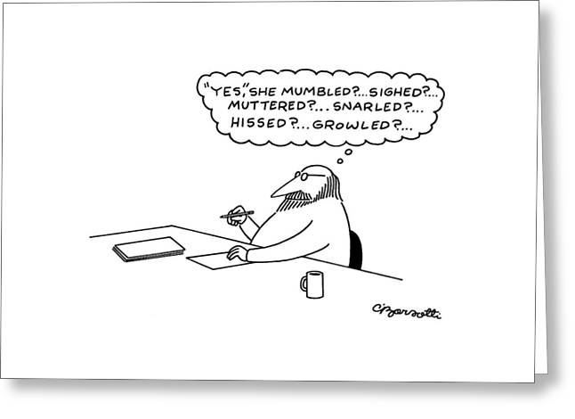 New Yorker July 27th, 1981 Greeting Card by Charles Barsotti