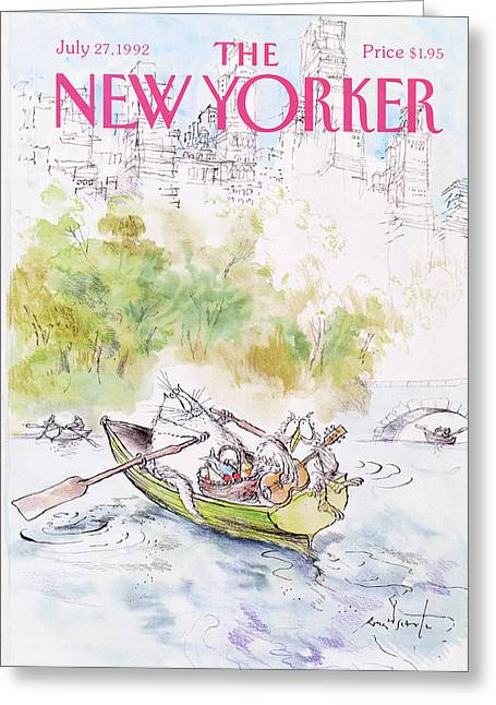 New Yorker July 27th, 1992 Greeting Card by Ronald Searle