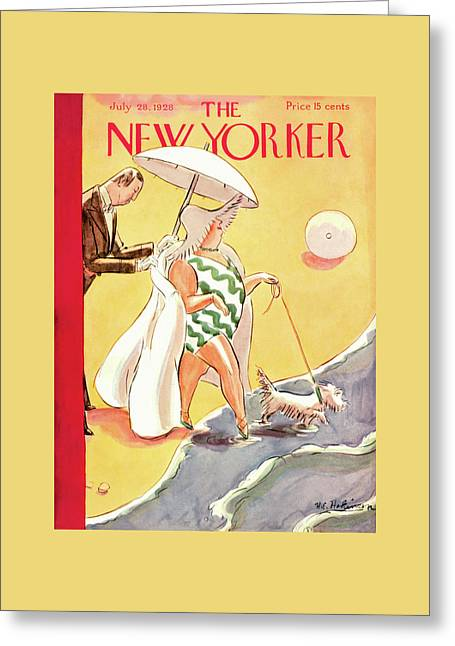 New Yorker July 28th, 1928 Greeting Card by Helen E. Hokinson