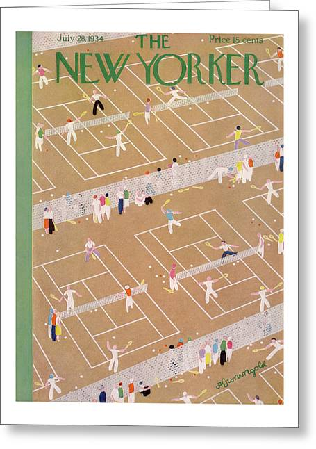 New Yorker July 28th, 1934 Greeting Card by Adolph K Kronengold