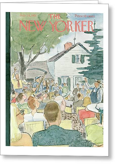 New Yorker July 28th, 1951 Greeting Card