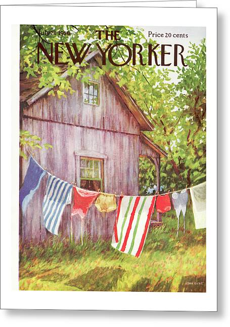 New Yorker July 28th, 1956 Greeting Card