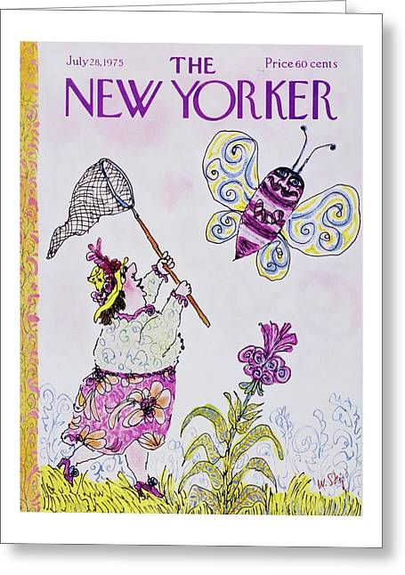 New Yorker July 28th 1975 Greeting Card