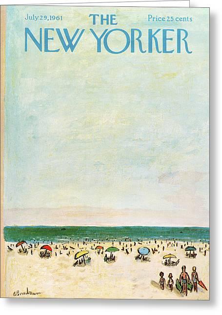 New Yorker July 29th, 1961 Greeting Card by Abe Birnbaum