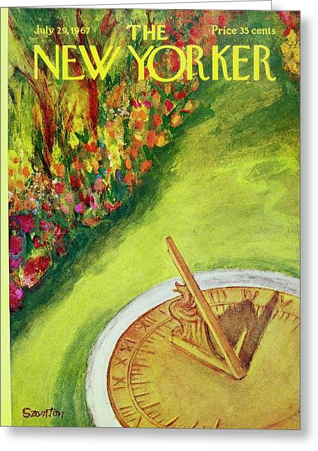 New Yorker July 29th 1967 Greeting Card by Beatrice Szanton