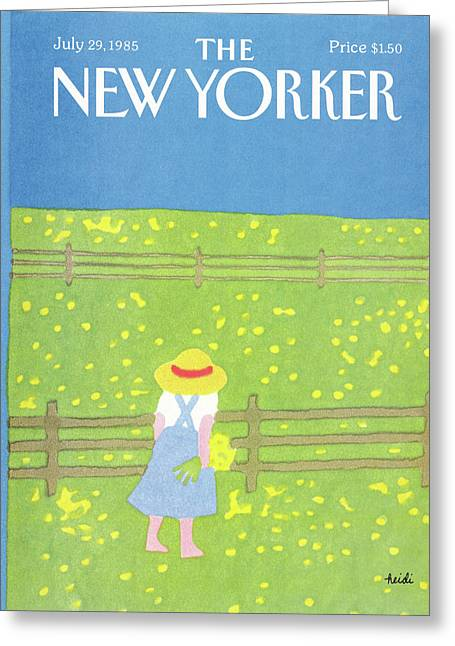 New Yorker July 29th, 1985 Greeting Card by Heidi Goennel