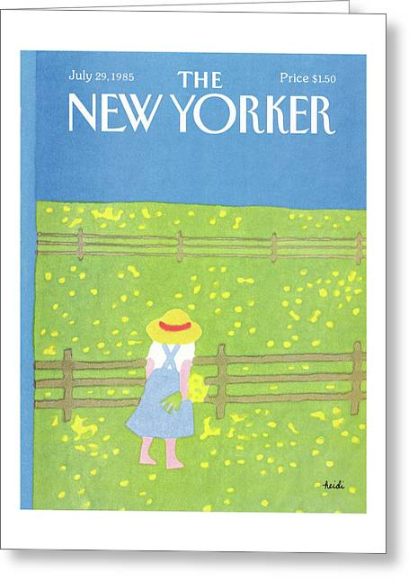 New Yorker July 29th, 1985 Greeting Card