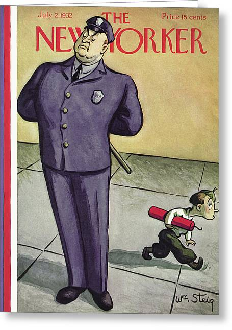 New Yorker July 2nd, 1932 Greeting Card by William Steig