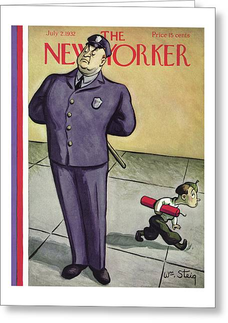 New Yorker July 2nd, 1932 Greeting Card