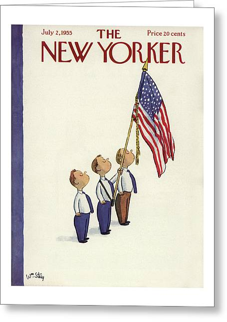 New Yorker July 2nd, 1955 Greeting Card