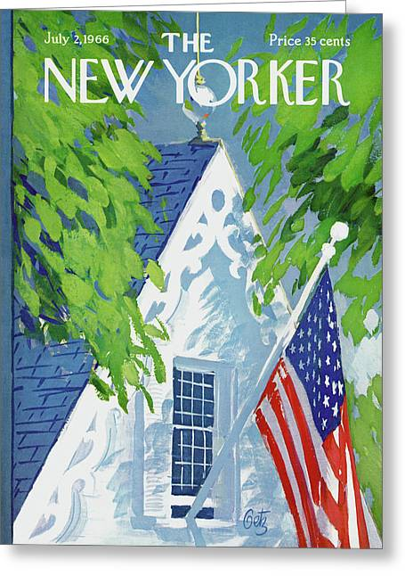 New Yorker July 2nd, 1966 Greeting Card by Arthur Getz