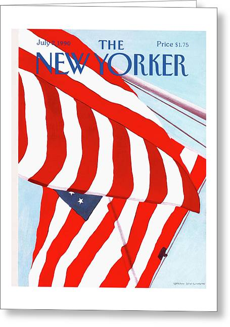 New Yorker July 2nd, 1990 Greeting Card
