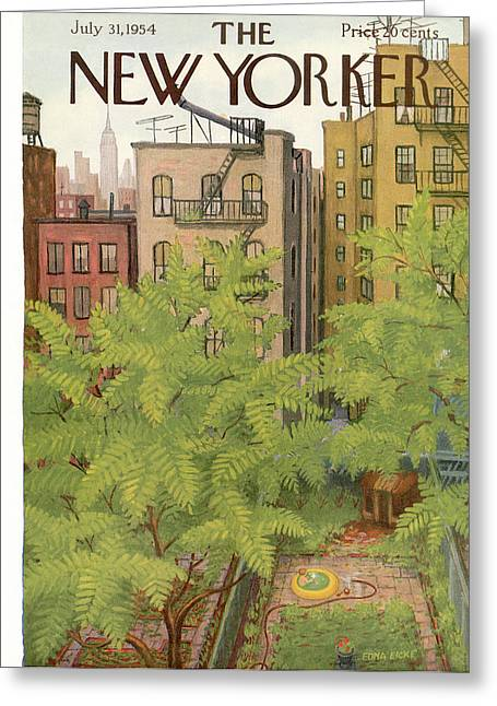 New Yorker July 31st, 1954 Greeting Card