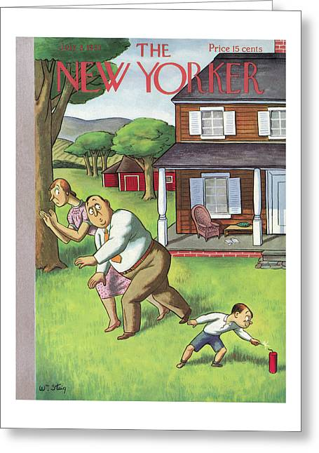 New Yorker July 3rd, 1937 Greeting Card