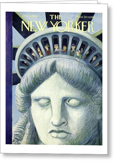 New Yorker July 3rd, 1954 Greeting Card