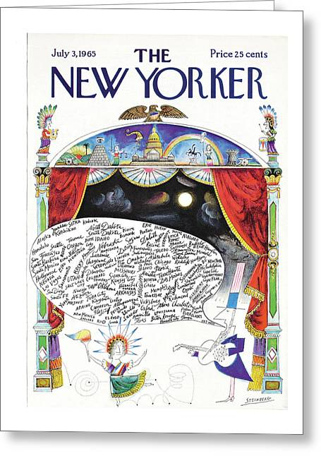 New Yorker July 3rd, 1965 Greeting Card