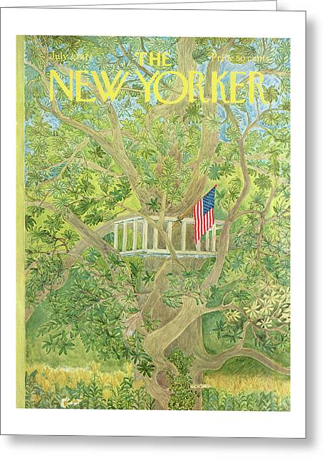 New Yorker July 3rd, 1971 Greeting Card