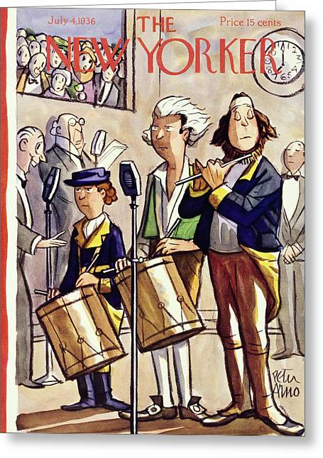New Yorker July 4 1936 Greeting Card