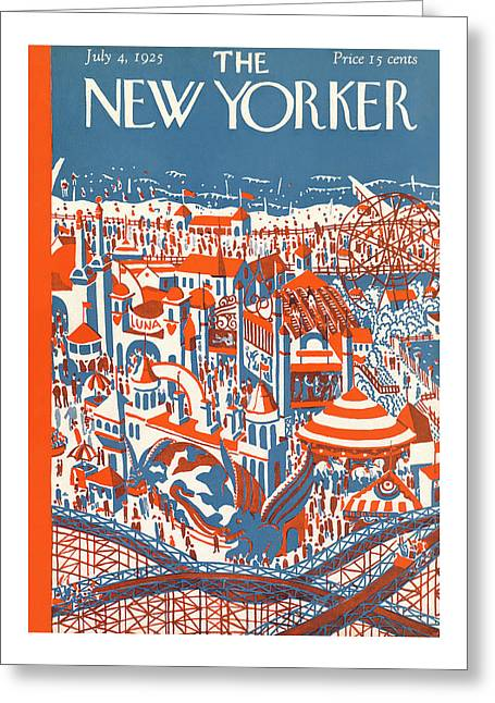 New Yorker July 4th, 1925 Greeting Card