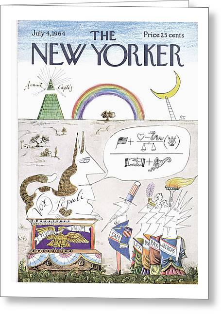 New Yorker July 4th, 1964 Greeting Card