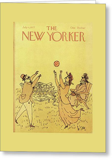 New Yorker July 4th, 1977 Greeting Card by William Steig