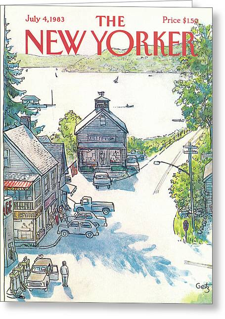 New Yorker July 4th, 1983 Greeting Card by Arthur Getz