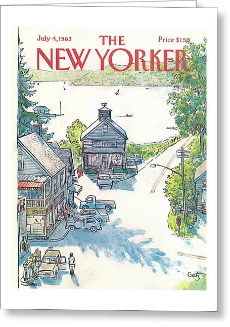 New Yorker July 4th, 1983 Greeting Card