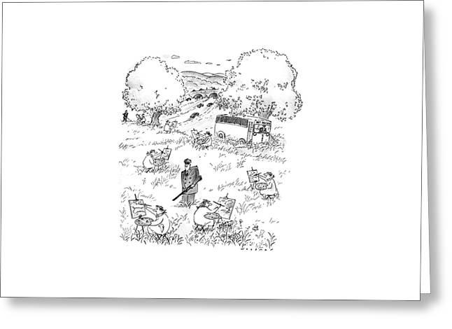 New Yorker July 4th, 1988 Greeting Card by Bill Woodman