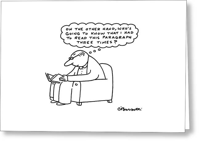 New Yorker July 4th, 1988 Greeting Card by Charles Barsotti