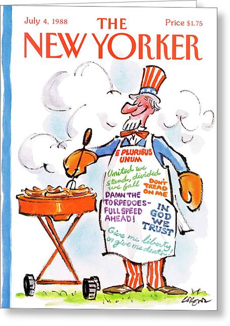 New Yorker July 4th, 1988 Greeting Card by Lee Lorenz